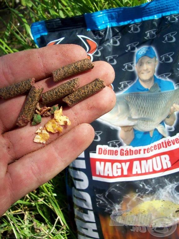 A Nagy Amur pelleteket is tartalmaz…