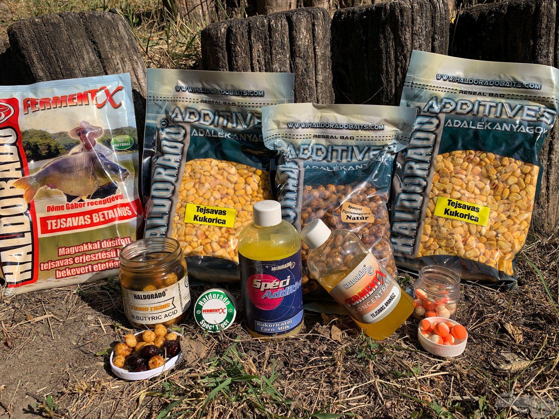 Etetésre 2 egység Tejsavas kukoricát, illetve 1 egység natúr tigrismogyorót használtunk, nyakon öntve SpéciAdditive Kukoricatejjel, illetve FermentX Concentrate Tejsavas Ananásszal