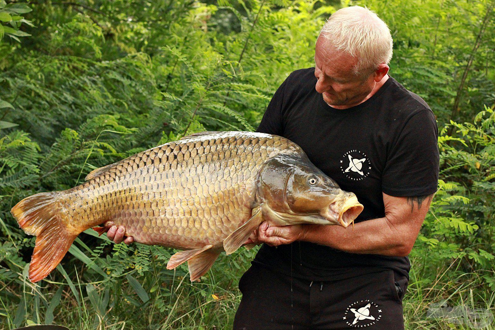 Túrám legnagyobb hala ez a gyönyörű, 18,50 kg-os töves volt