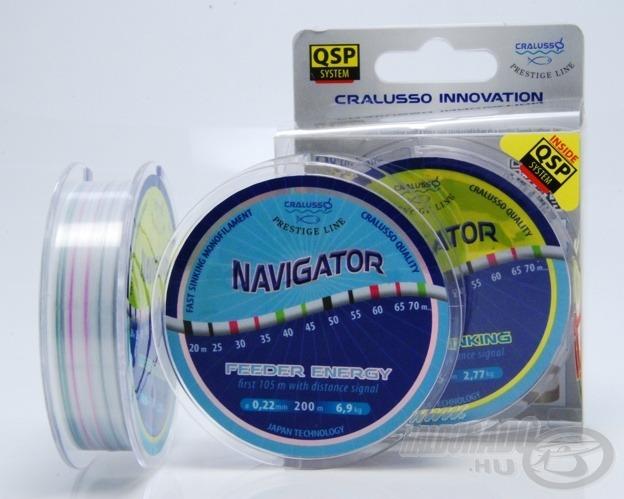 A magyar fejlesztésű Navigator zsinórok, a horgászpiac talán legfejlettebb damiljai új dimenziókat nyitnak a horgászok előtt. Mintha mérőszalagot használnánk, egyszerűen és precízen tudjuk a vízen lévő helyek távolságát beazonosítani és segítségével pontosan meghorgászni