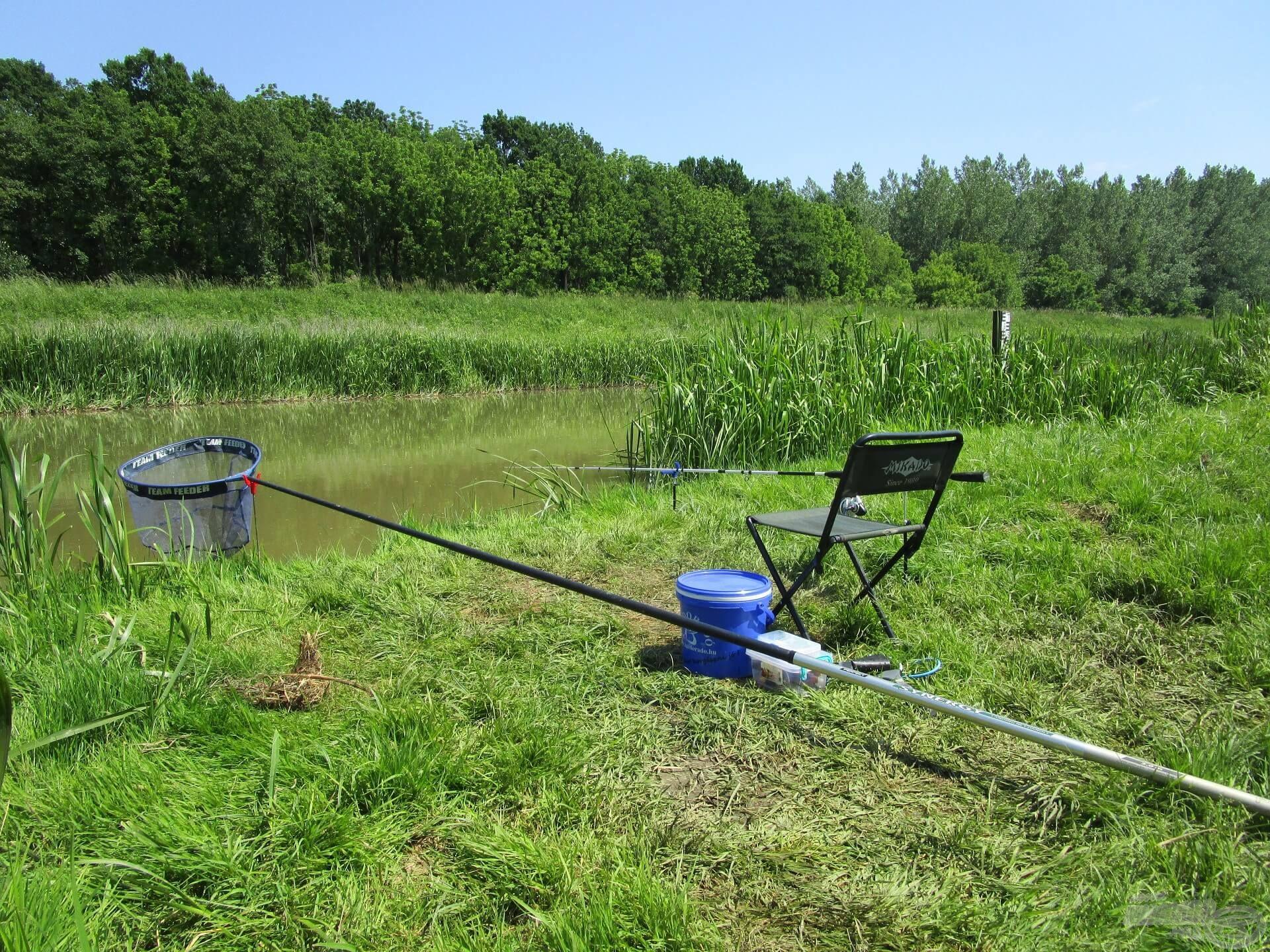Mivel nem vittem sok cuccot, gyorsan felállítottam a horgászállást