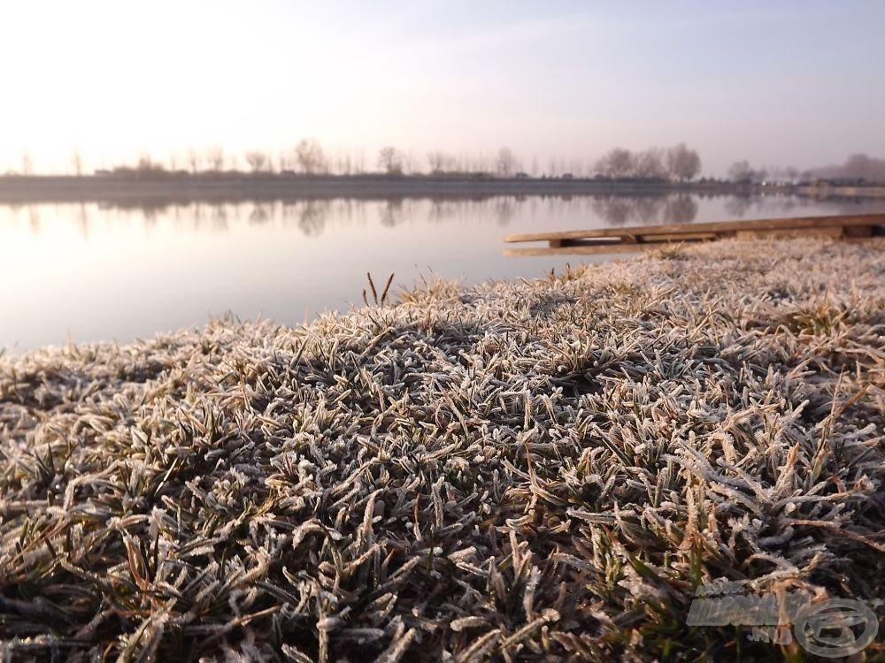 A tó vize ebben az időszakban még nagyon hideg