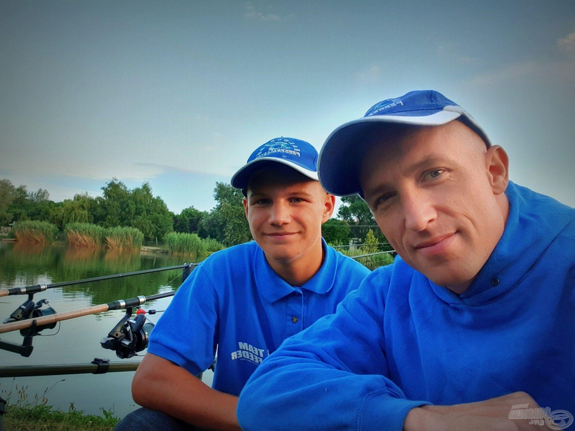Tomi nem először kísér el horgászatomra, kiváló összhangban tudunk együtt dolgozni