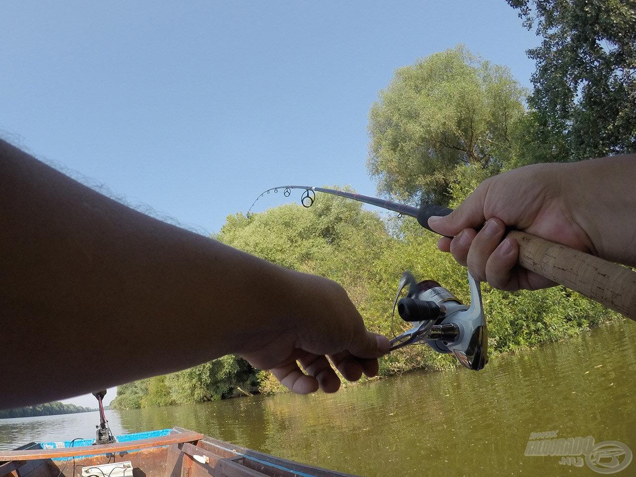 Az ötlet nem volt hamvában holt, mivel volt egy halam, ami köszönés nélkül vitte az előkét: köszöni szépen, de nem kíván csónakba kerülni