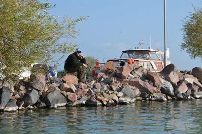 Késő őszi horgászat a Balatonon