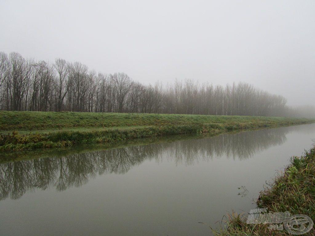 November végén horgásztam a Zalán…