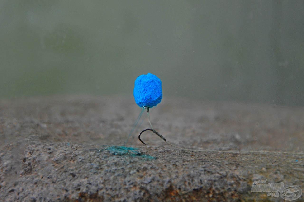 A 12 mm-es, kicsire faragott Kék Fúzió Fluo Oldódó Lebegő Pellet is remek csali. Eddigi legnagyobb tokhalamat köszönhetem neki!