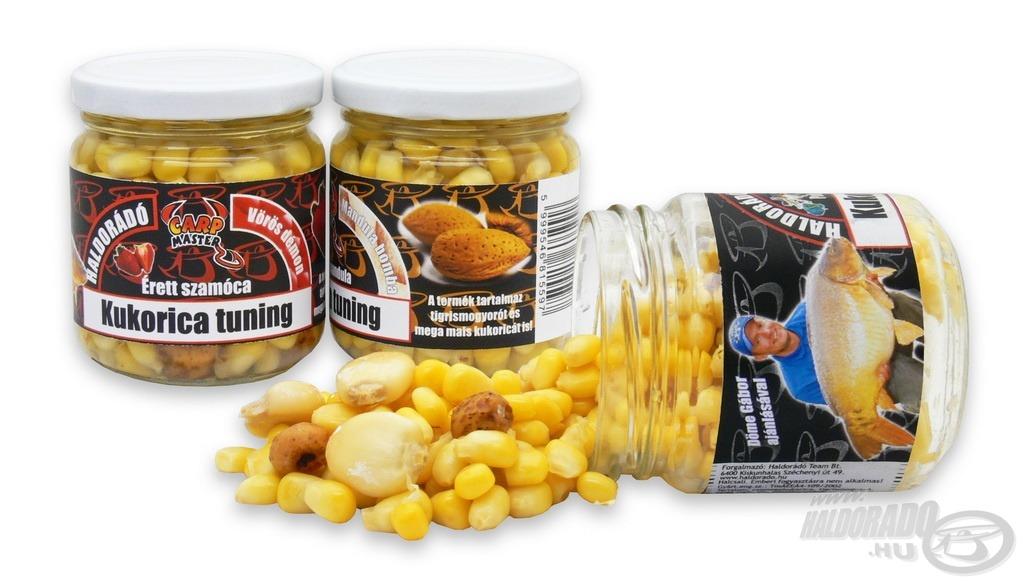 A Kukorica Tuning válogatott, egész csemegekukorica szemek mellett mega maist és tigrismogyorót is tartalmaz