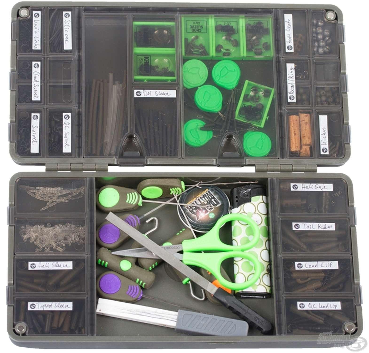 Ebben a dobozban garantáltan rendezetten tárolhatjuk aprócikkeinket