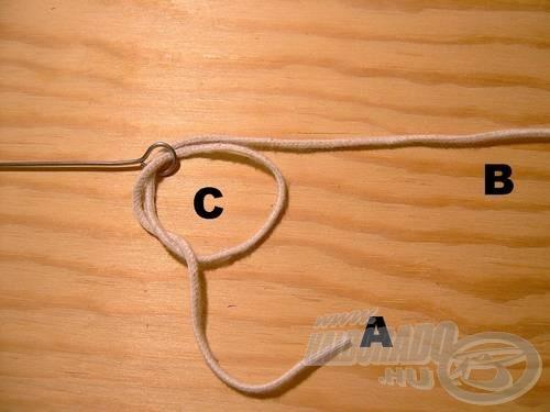 Vegyük át ismét az (A) szálat a (C)-n.