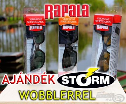 Különleges ajánlat: Rapala napszemüvegek ajándék Storm wobblerrel!