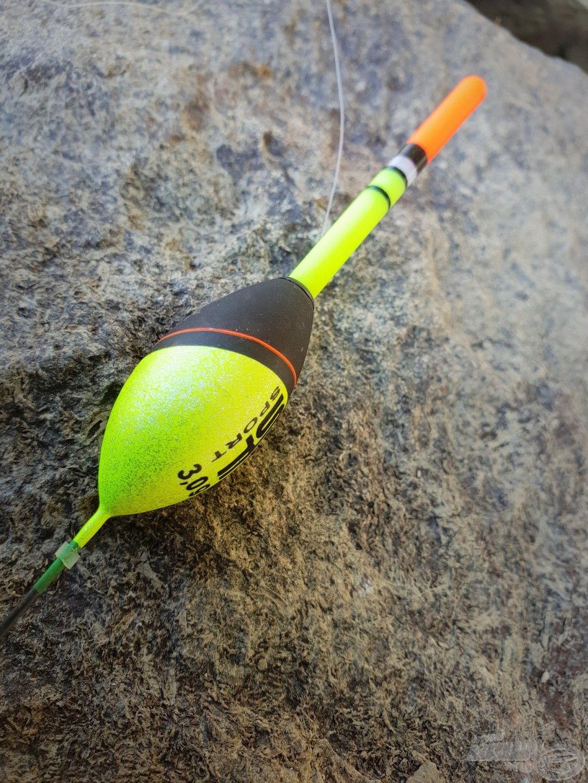Egy 3 grammos, belső zsinórvezetésű, cserélhető antennás úszó…