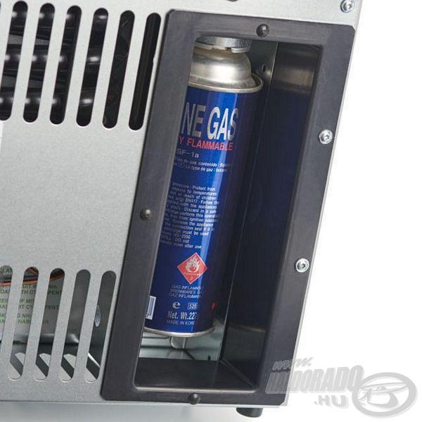 Integrált ágyazat a gázpalack számára