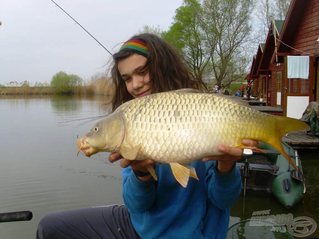 Ez volt a legnagyobb hal, 3,6 kilós ponty