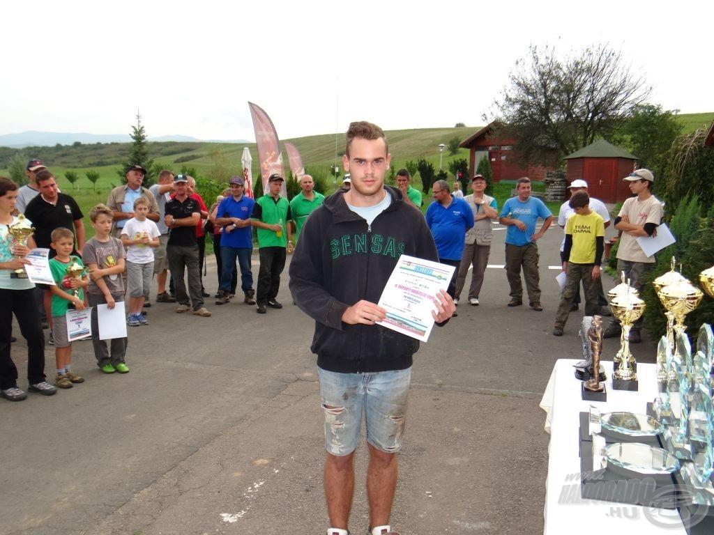 II. Vízparti Varázslat Kupa, a legjobb ifjúsági versenyző