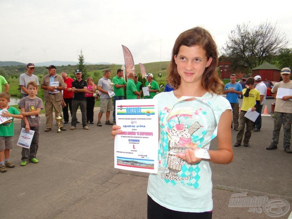 Maconka Barátai '14 Szuperkupa, gyermek bajnok, címvédéssel: Hegedüs Zsófia