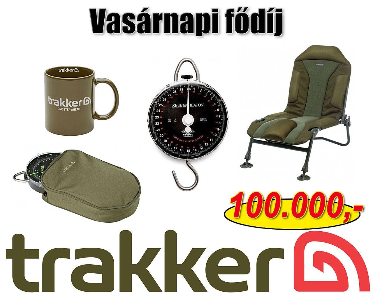 A tudáspróbával összekötött tombola fődíja vasárnap egy 100.000 Ft értékű Trakker ajándékcsomag!