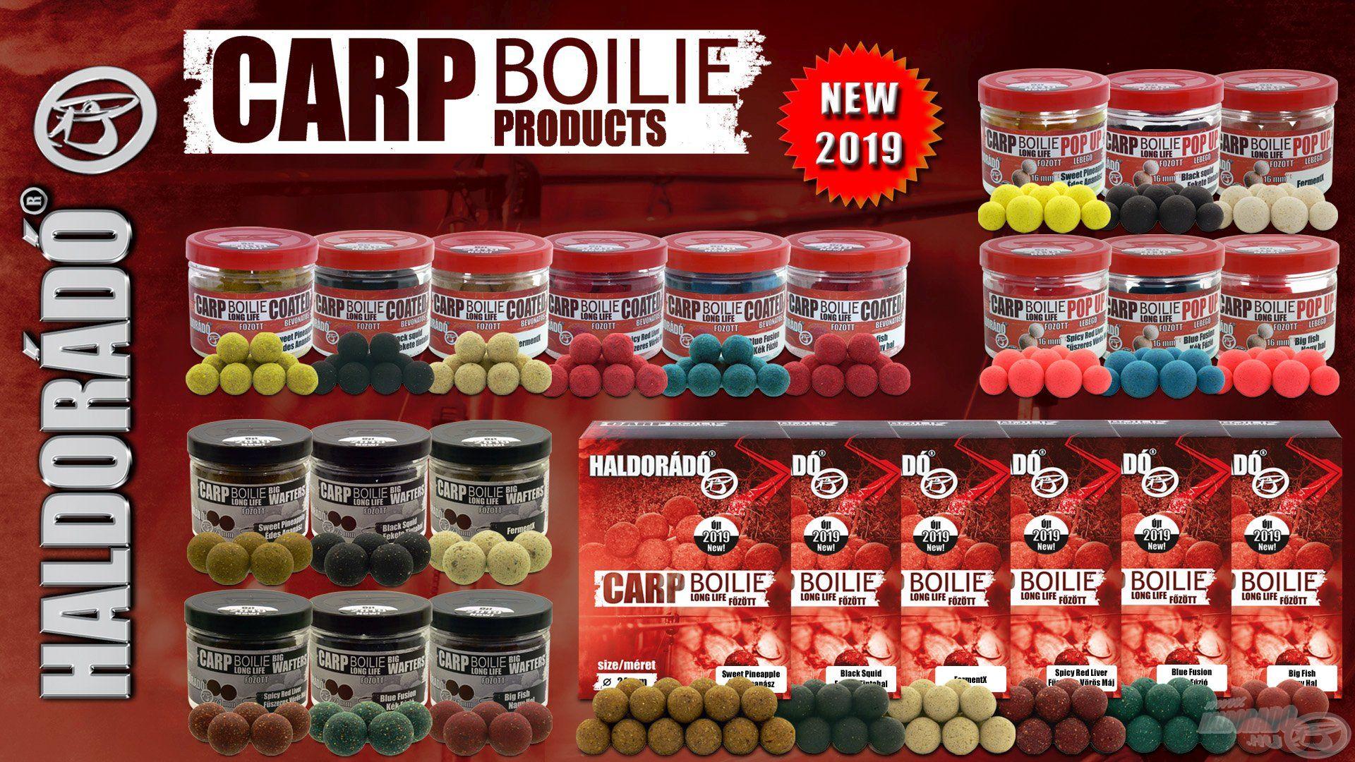 Számos újdonságot és meglepetést tartogat 2019-ben a teljesen új alapokra épülő Carp Boilie paletta!