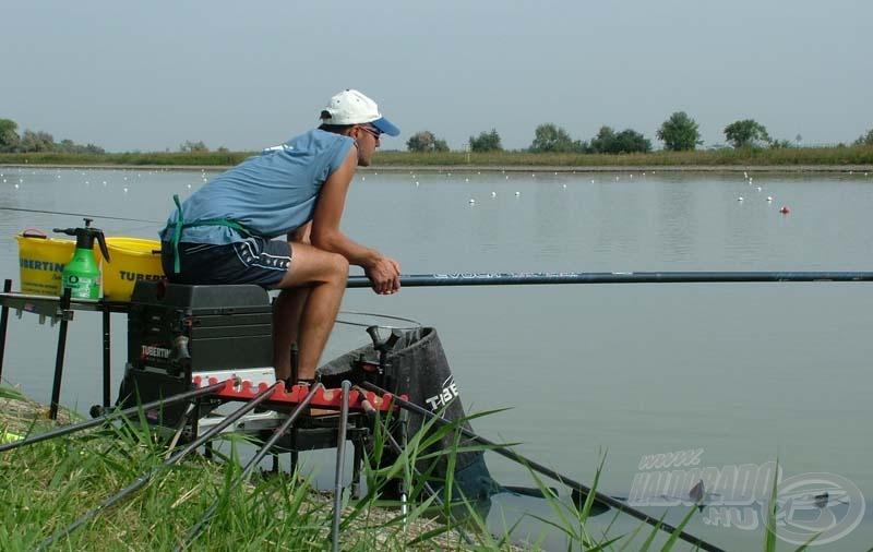 """Az """"A"""" szektorban ülő Barna Szilárd 3.010 g halat fogott három óra alatt"""