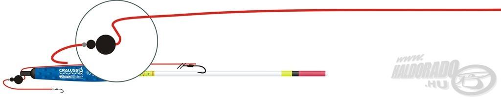 A megoldás lényege a fejben kialakított ferde lyuk, mely dobáskor Z alakban tartja a zsinórt és rögzíti az úszót az ólomnál, ami biztosítja a tökéletes repülést, csökkenti a gubanc kialakulásának lehetőségét, miközben a Zero a hagyományos úszókhoz hasonlóan dobható