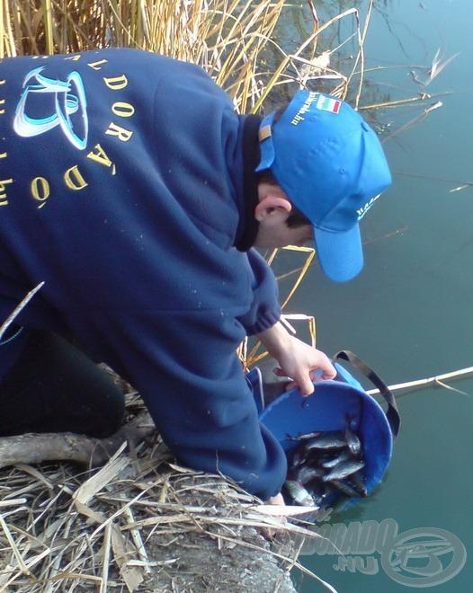 Természetesen minden halat visszaengedtem a horgászat végén