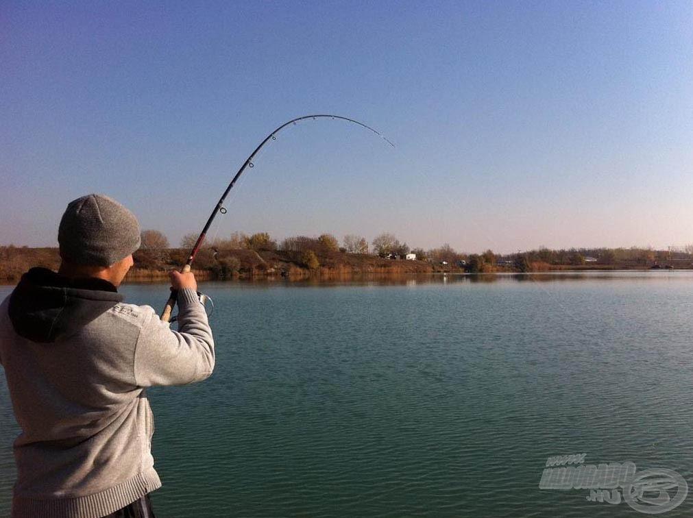 Erősen küzdöttek a halak a hideg víz ellenére