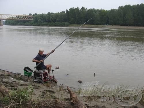 …a versenyzők minden tudásukat bevetve horgásztak