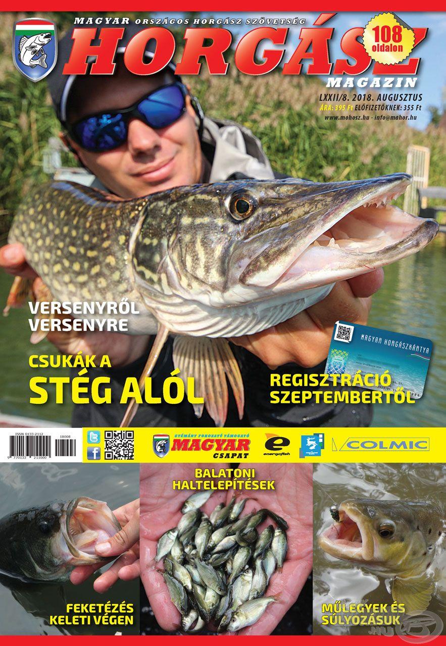 Megjelent a Magyar Horgász 2018. augusztusi száma