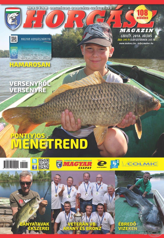 Megjelent a Magyar Horgász 2018. júliusi száma
