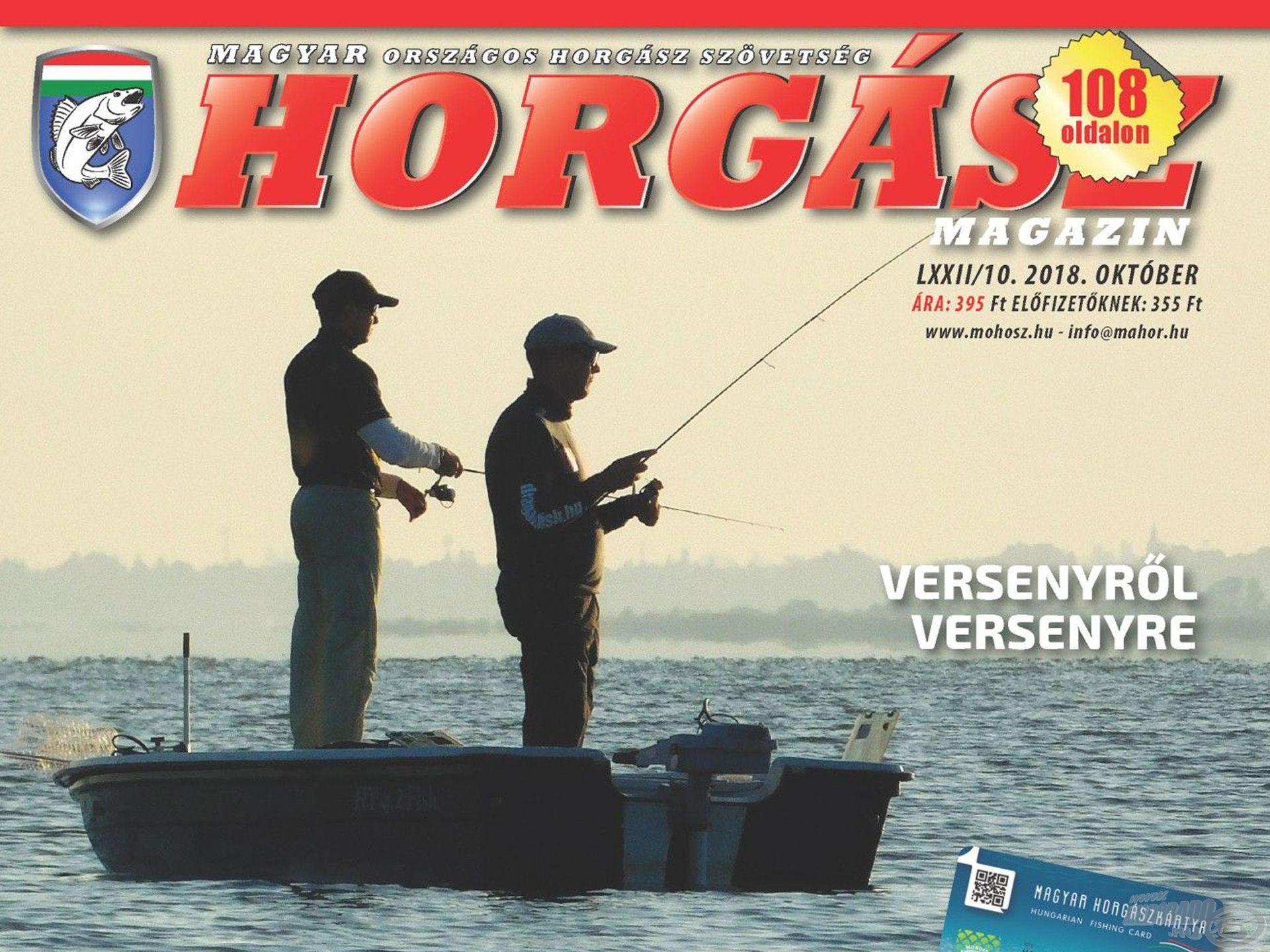 Megjelent a Magyar Horgász 2018. októberi száma