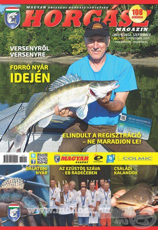 Megjelent a Magyar Horgász 2018. szeptemberi száma