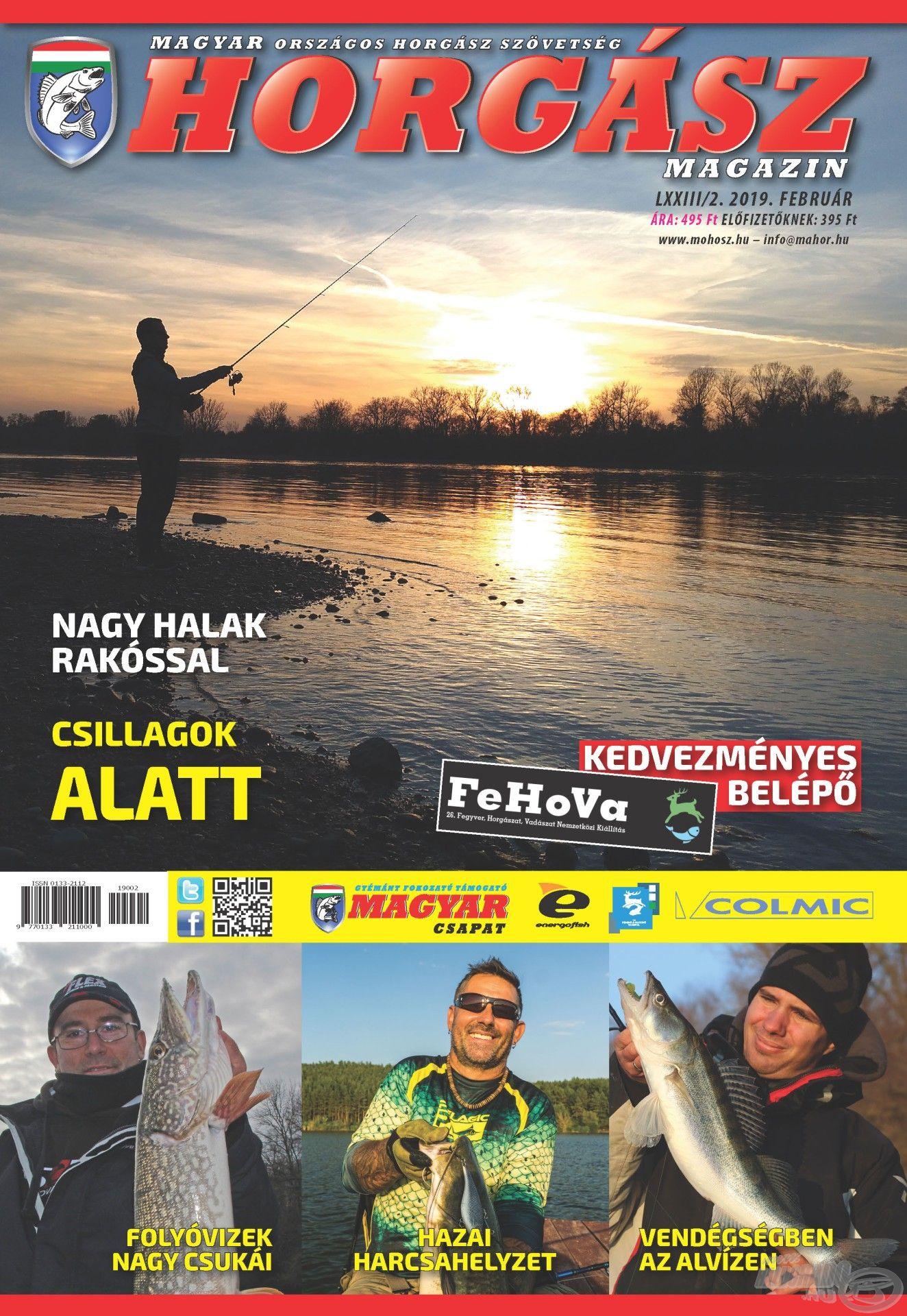 Megjelent a Magyar Horgász 2019. februári száma