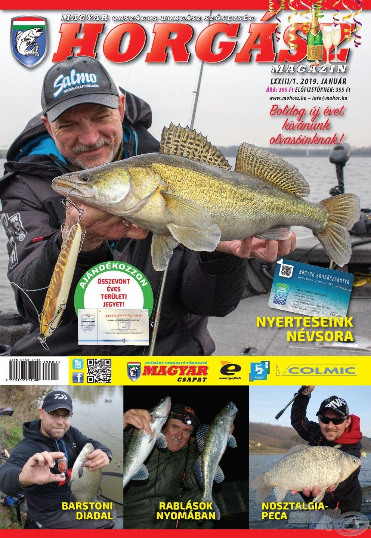 Megjelent a Magyar Horgász 2019. januári száma