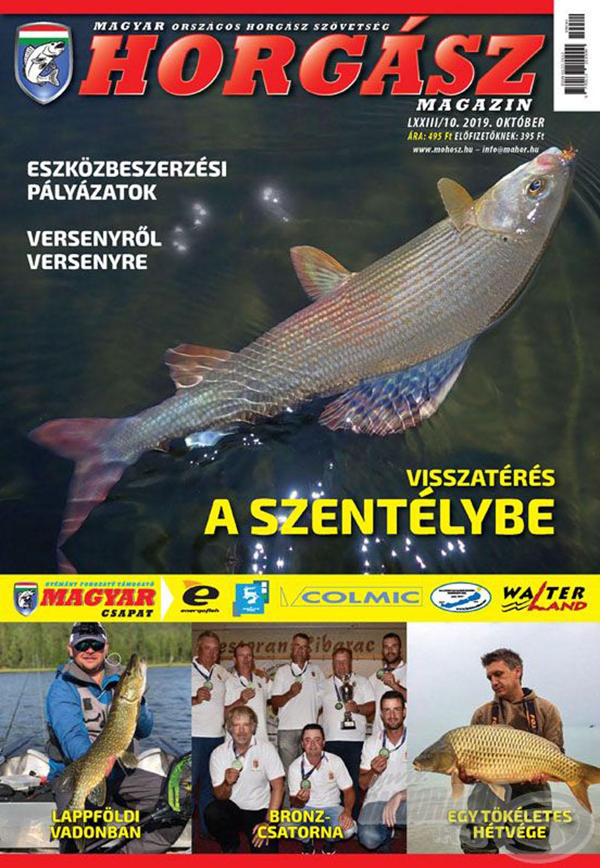 Megjelent a Magyar Horgász 2019. októberi száma