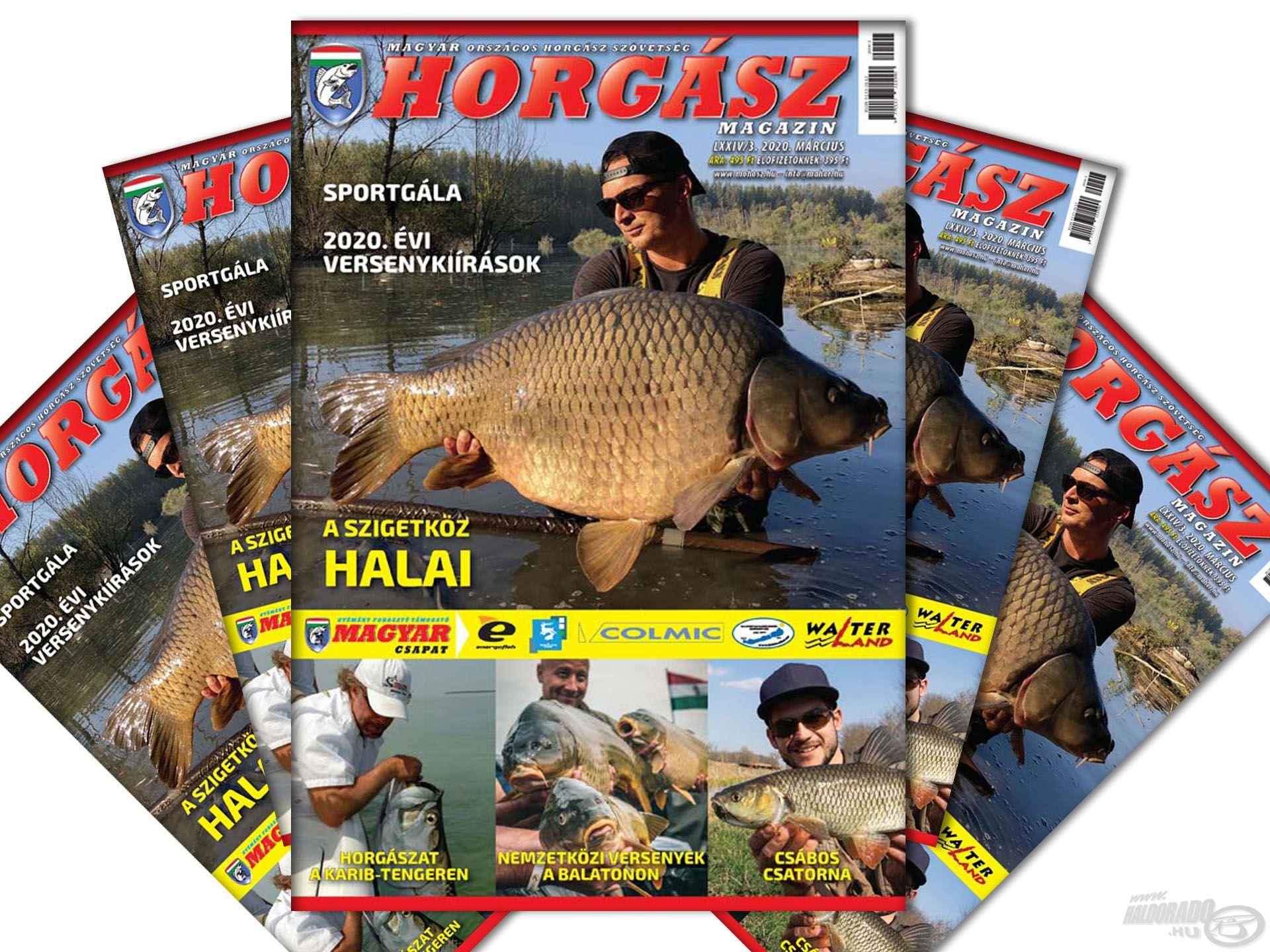 Megjelent a Magyar Horgász 2020. márciusi száma