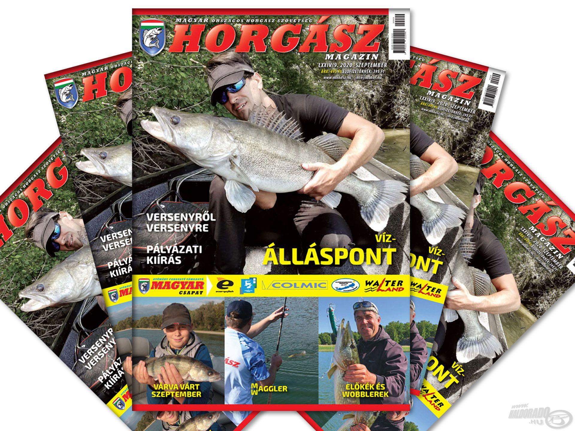 Megjelent a Magyar Horgász 2020. szeptemberi száma