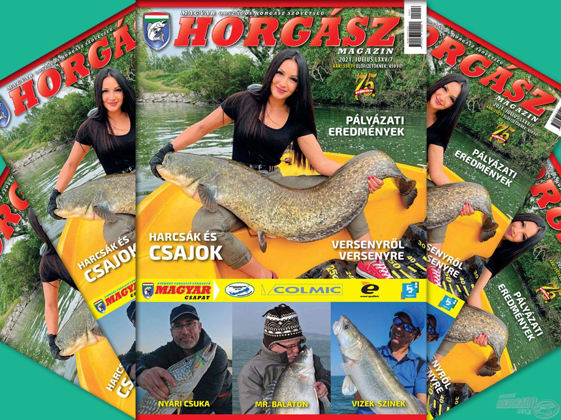 Megjelent a Magyar Horgász 2021. júliusi száma