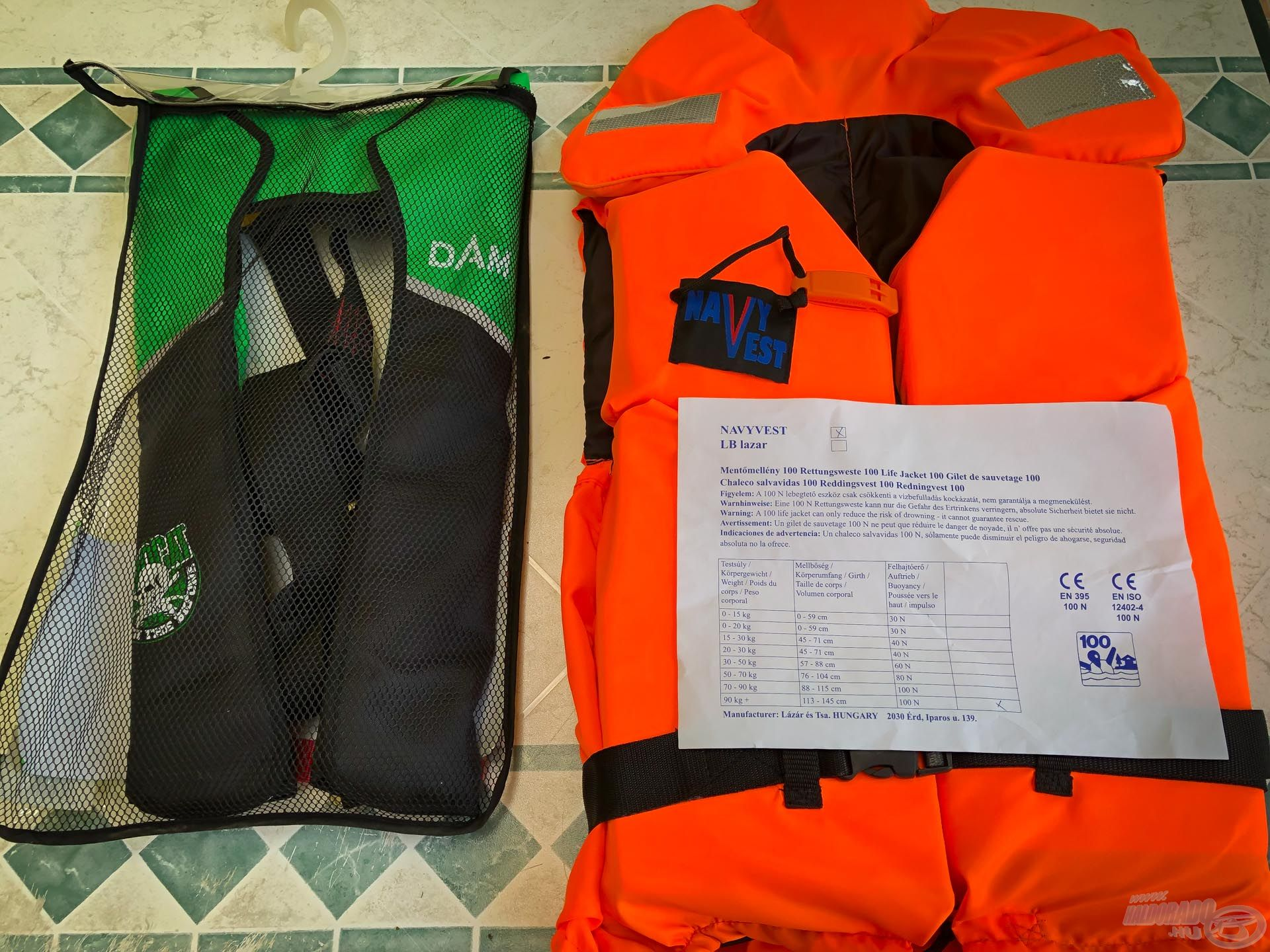 Ezek a felszerelések vártak próbára: LB mentőmellény, Mad Cat biztonsági mentőmellény