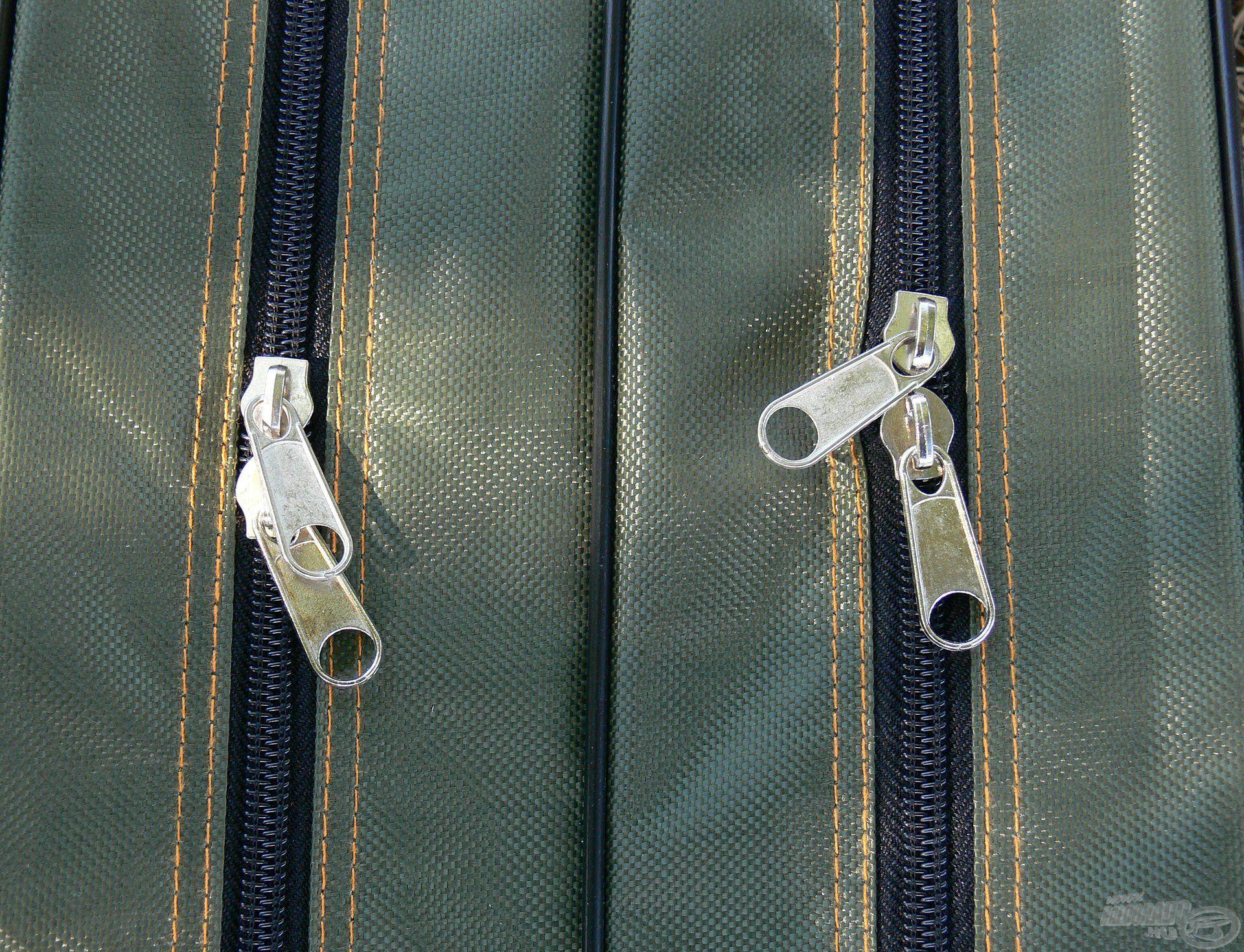 Erős, dupla cipzárak kerültek a táskákra