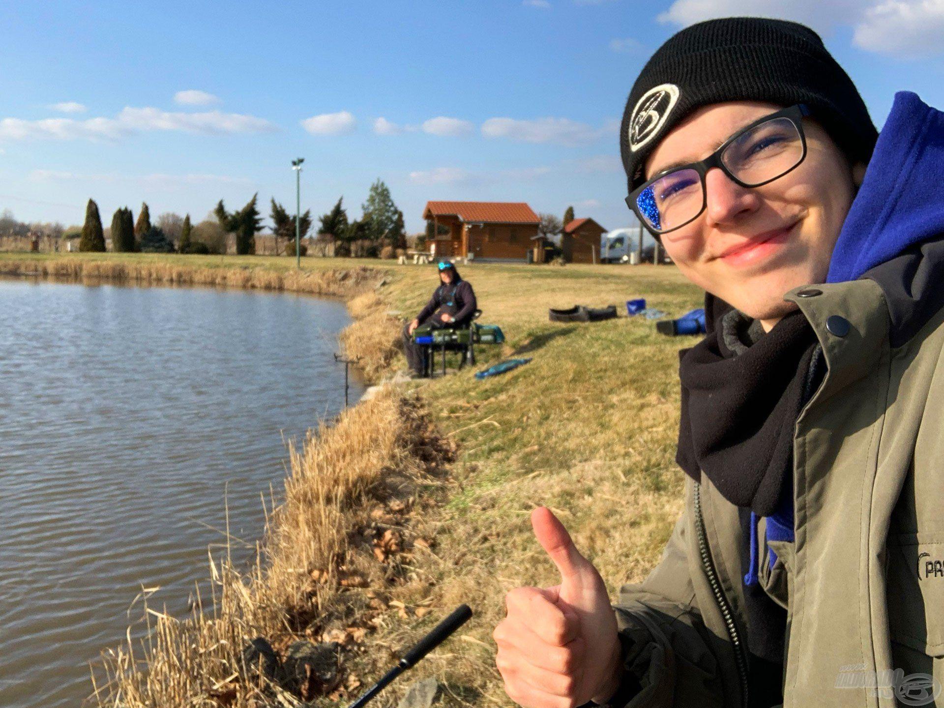 Alig vártam, hogy elkezdjünk horgászni