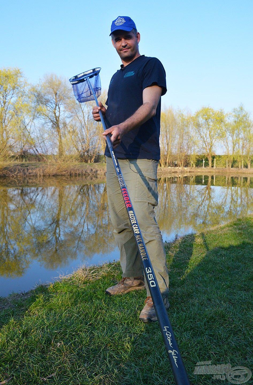 Amennyiben egyedül kell megmeríteni a halat, mindenképpen 3 méternél hosszabb nyélre van szükség