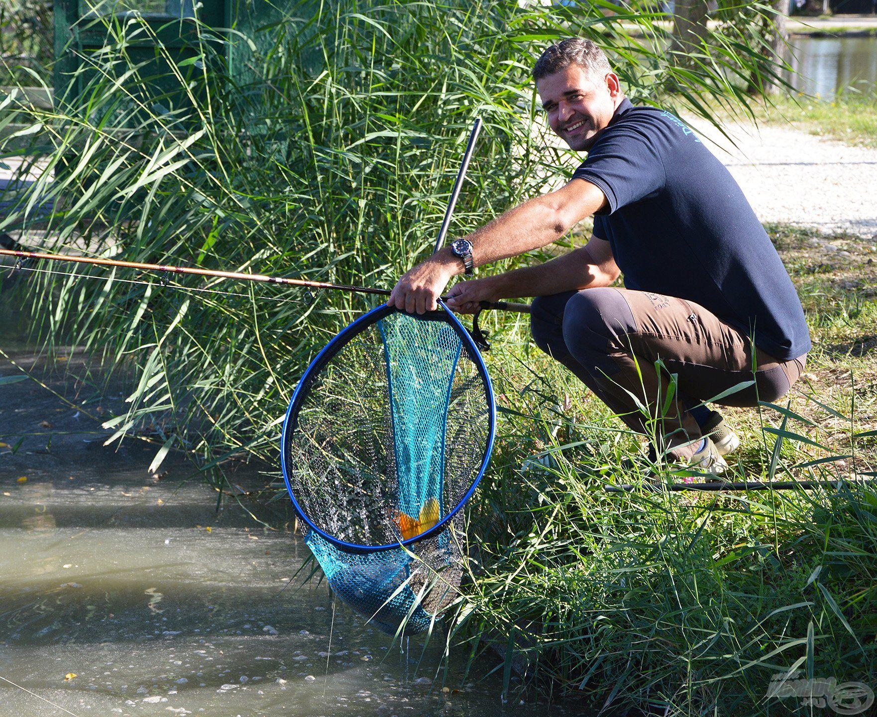 A Method King merítő fejjel egyszerűen és biztonságosan megoldható a hal merítése és annak a matracra történő kivétele is, ráadásul az új Master Carp Pro nyél első 40 centije levehető, így nem kell a 3-4 méteres nyéllel kardozni