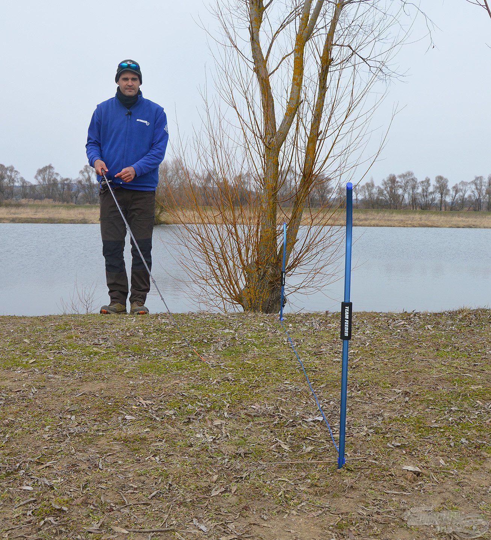 A By Döme TEAM FEEDER távolságmérő rúd segít abban, hogy pontosan horgászhassunk