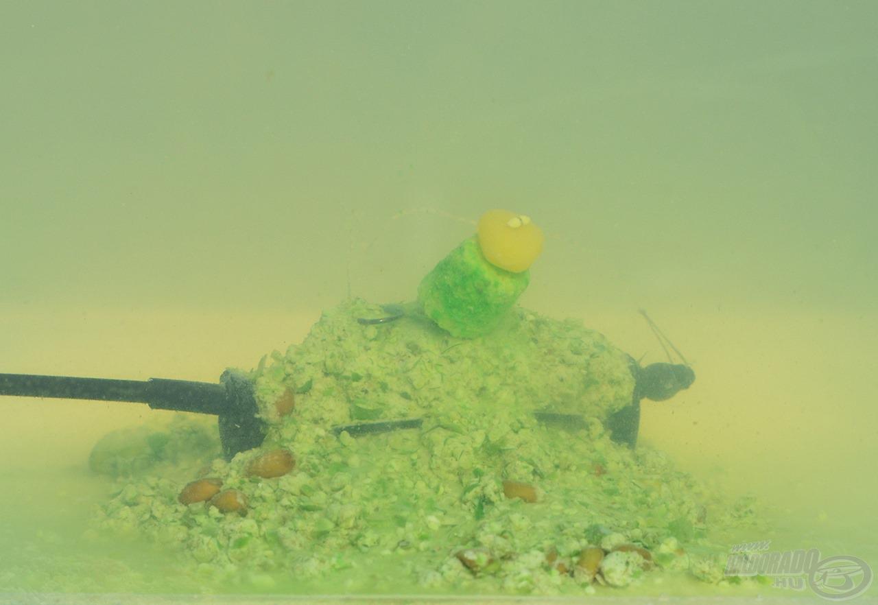 A vízben kioldódva így várja a kíváncsi halakat