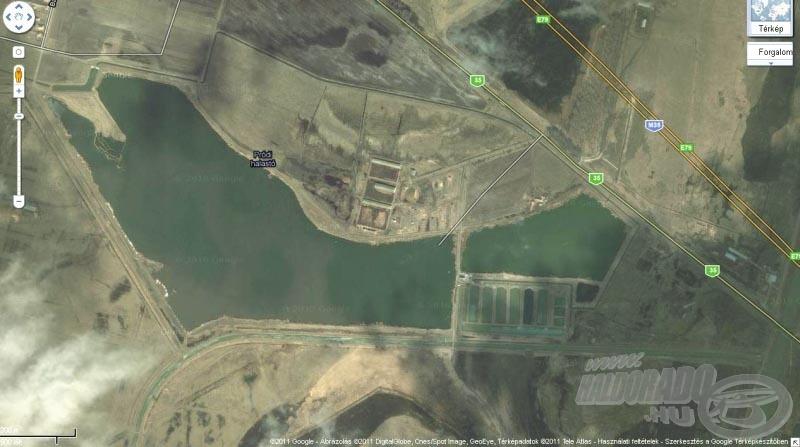 A tó műholdképe - Google maps