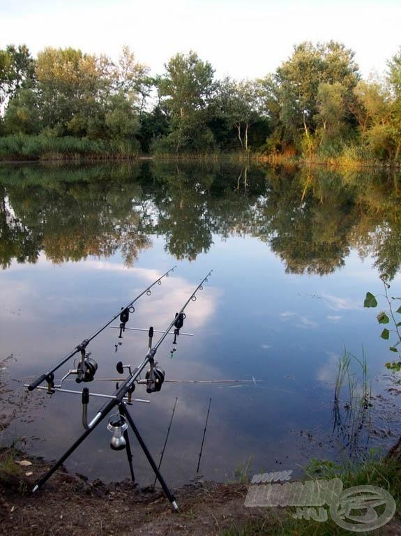 A kis öböl jobb sarkába és a közepén található platóra horgásztam