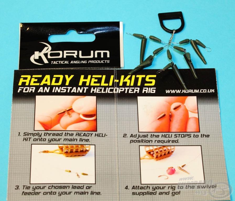 Természetesen minden részletre kiterjedő használati utasítás is segíti a Korum Ready Heli-Kits felszerelését, de a következő pár fotó bizonyítja, hogy gyerekjáték felhelyezni és azonnal be is vetni e szereléket