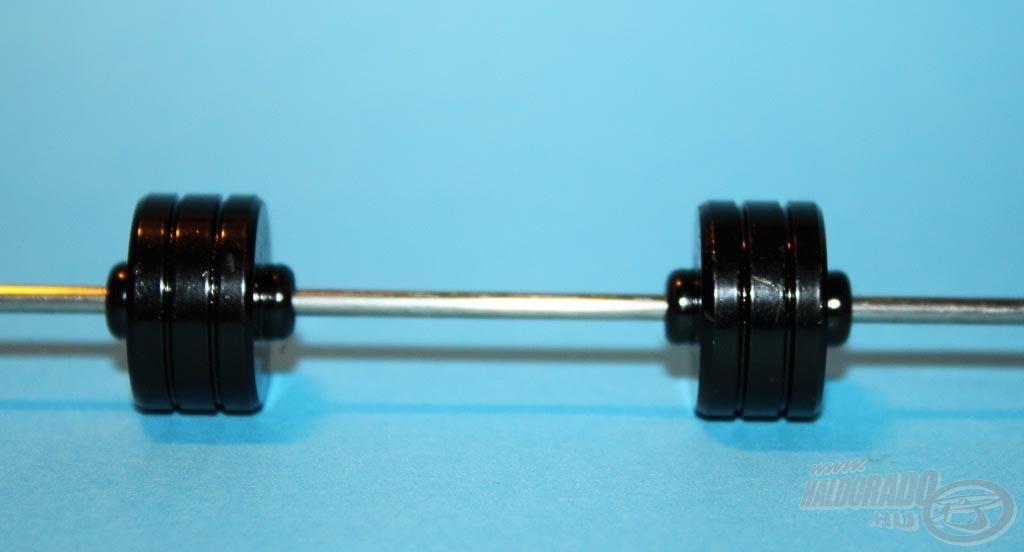 Itt a passzív zsinórterhelést két darab súllyal tudjuk módosítani, növelni, vagy csökkenteni