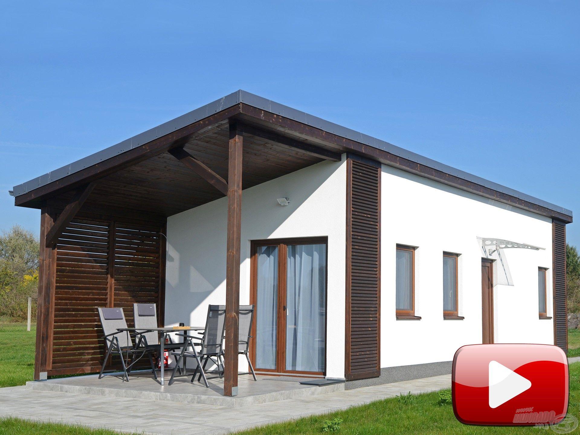 Modern vízparti apartmanházak az Ezüst-tó Horgászcentrumban