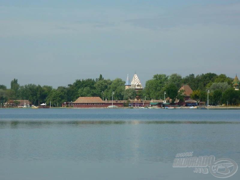 A tó egy része